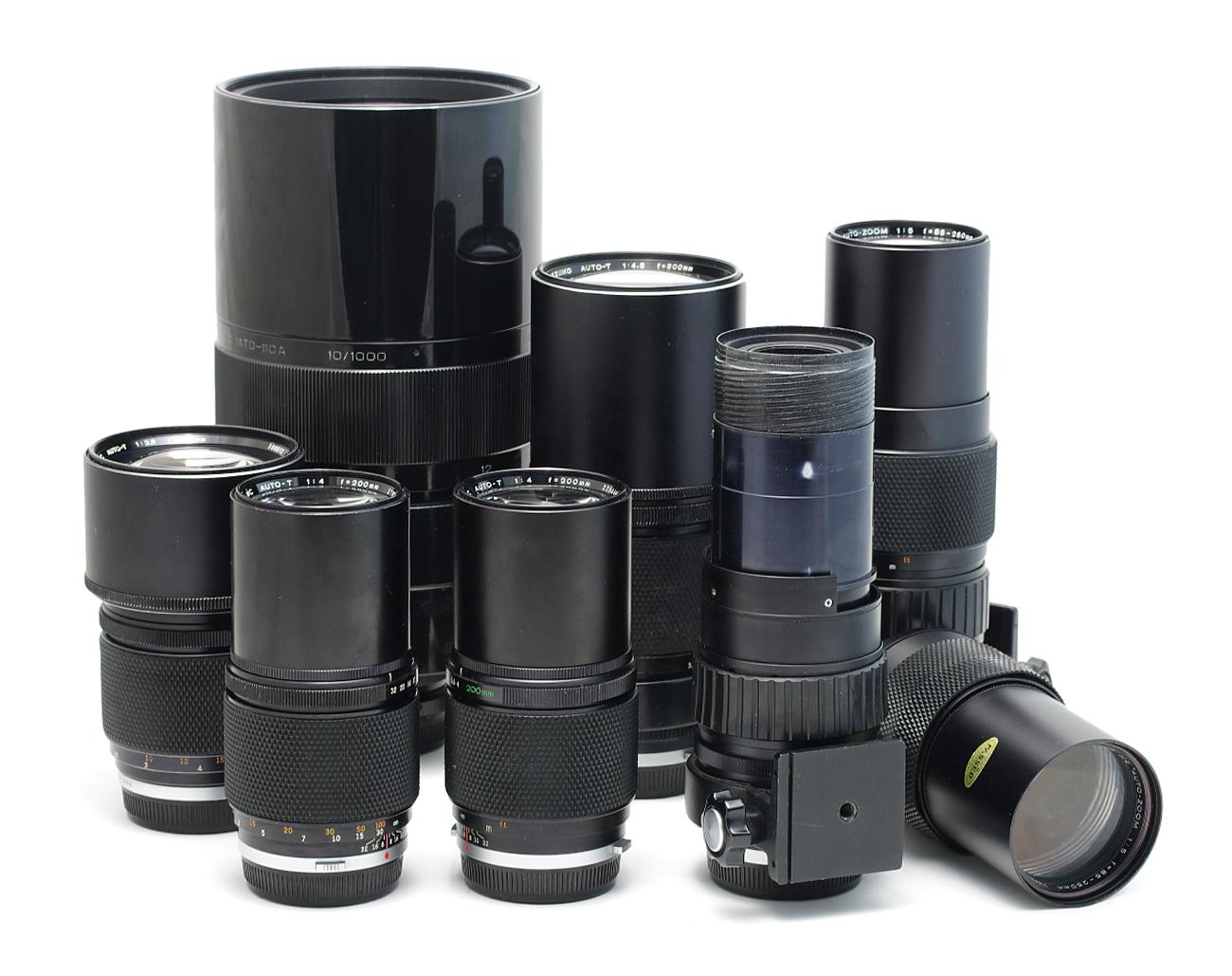 Lot-Olympus-Lenses-28mm-50mm-135mm-180mm-200mm-85-250mm-300mm Indexbild 2