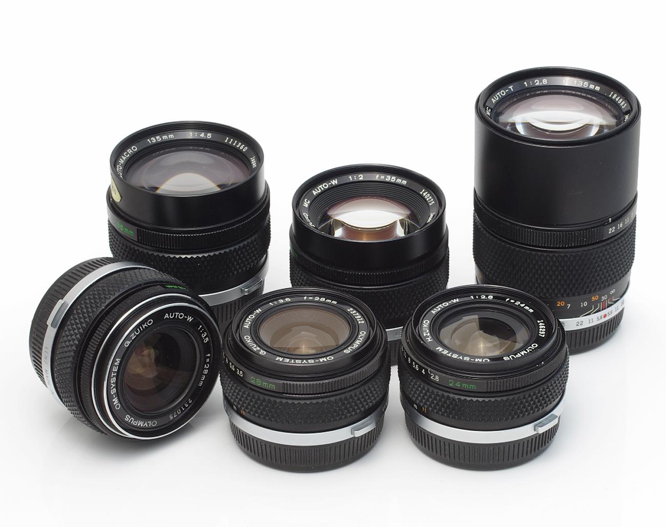 Lot-Olympus-Lenses-28mm-50mm-135mm-180mm-200mm-85-250mm-300mm Indexbild 3