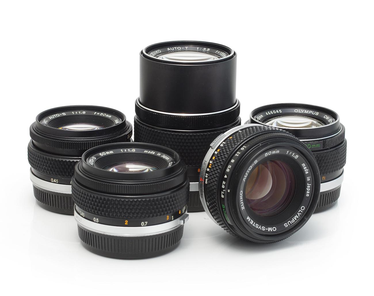 Lot-Olympus-Lenses-28mm-50mm-135mm-180mm-200mm-85-250mm-300mm Indexbild 5